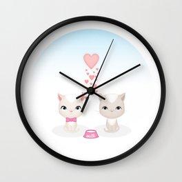 Lovely Cat Wall Clock