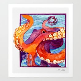 Here's Looking at You Octopus Art Print