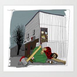 """I'm not wakin' him"" by a.correia Art Print"