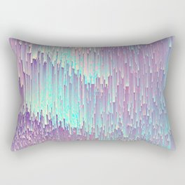 Iridescent Glitches Rectangular Pillow