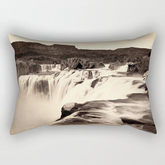 Vintage Waterfall Rectangular Pillow