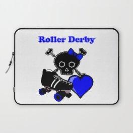 Roller Derby Heart (Blue) Laptop Sleeve