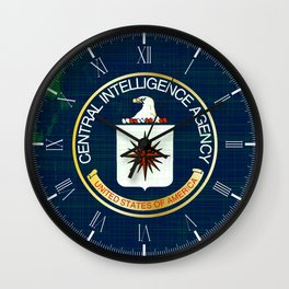 CIA Flag Grunge Wall Clock