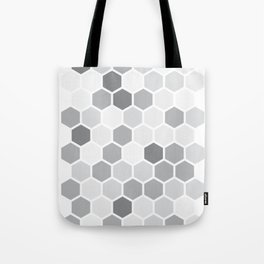 Texture hexagons - Shades of Grey Tote Bag