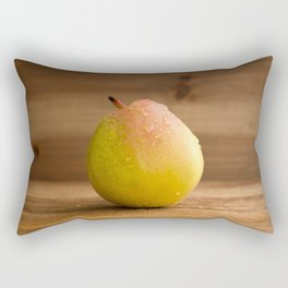 Pear on wood Rectangular Pillow