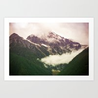 the mountains are calling Art Prints featuring The Mountains Are Calling by Noonday Design