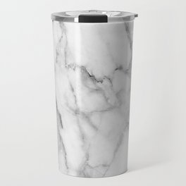 Clean White Marble Travel Mug