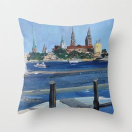 Pearl of the Baltics Throw Pillow