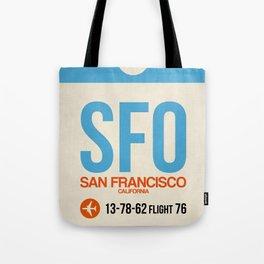 SFO San Francisco Luggage Tag 1 Tote Bag