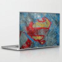 superman Laptop & iPad Skins featuring Superman by Fernando Vieira