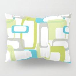 Mid-Century Modern Rectangle Design Blue Green and Gray Pillow Sham