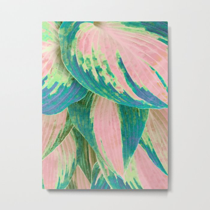 Hosta Multicolor Metal Print
