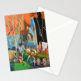 Haunted Ride Stationery Cards