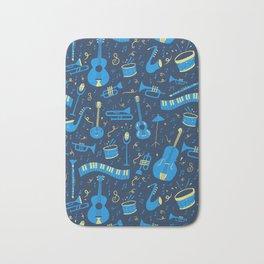 The Spirit of Jazz Pattern Bath Mat