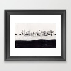 small village Framed Art Print