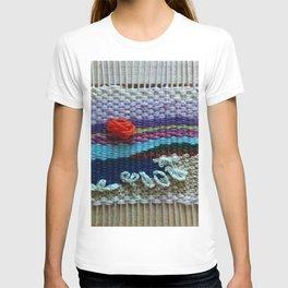 mini tapestry, weaving, Taito beach, Chiba, Japan, surf, surfing, surfing art, surf art, T-shirt