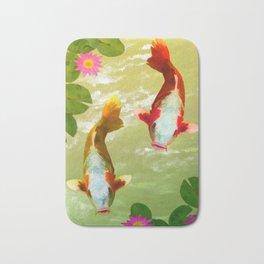 Koi Carp Fish Bath Mat