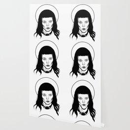 Alice Glass (Black & White) Wallpaper