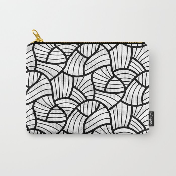Abstract Lines Pattern Design 3 Carry-All Pouch
