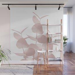 Eucalyptus Leaves Blush White #1 #foliage #decor #art #society6 Wall Mural