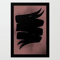 None More Black Art Print
