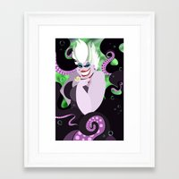 ursula Framed Art Prints featuring Ursula by Karrashi