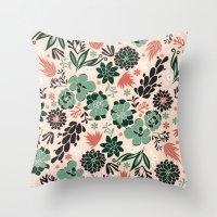 Succulent flowerbed Throw Pillow