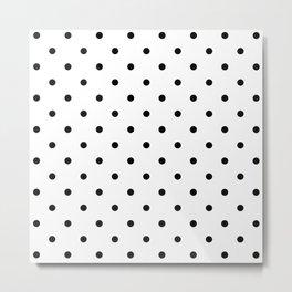 Black & White Polka Dots Metal Print