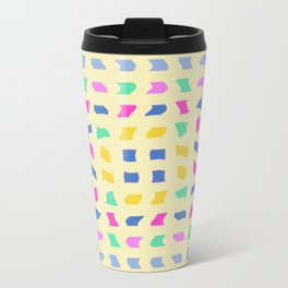 Colorblocks, Light Yellow Metal Travel Mug