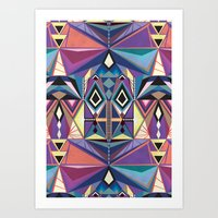 totem Art Prints featuring Totem by Naia Ceschin