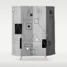 Gray Geometry 3 Shower Curtain