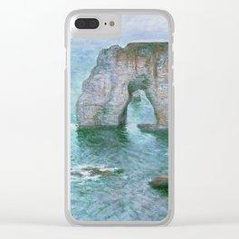 Claude Monet, French, 1840-1926 Manne-Porte, Etretat Clear iPhone Case