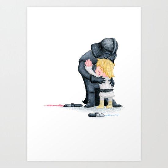 enemies hug I Art Print