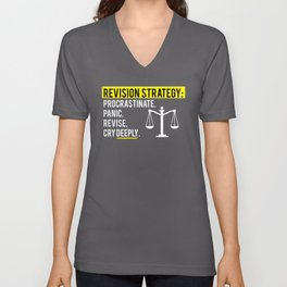 Bar Exam Law Student design Revision Strategy Unisex V-Neck