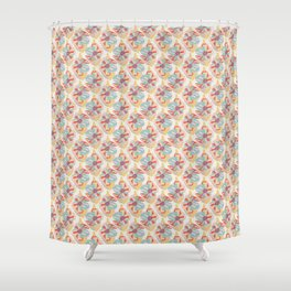 Grandmother's Apron Blooms Shower Curtain
