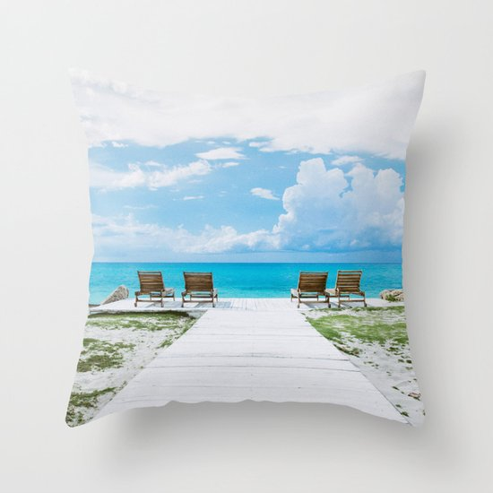 Sun Tan Throw Pillow