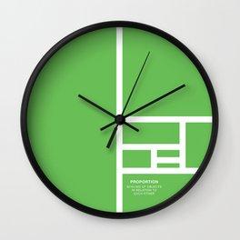 Design Principle FOUR - Proportion Wall Clock
