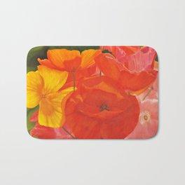 Colourful Summer Poppies Bath Mat