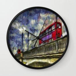 Battersea Bridge London Van Gogh Wall Clock