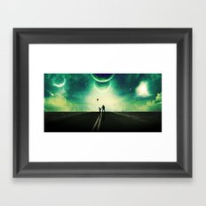 A Father and Son Walk Framed Art Print