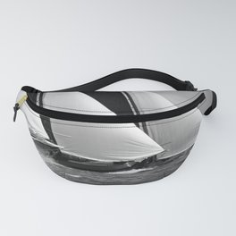 Skutsjes sailing vessels in a regatta Fanny Pack