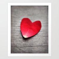 Hearts & Roses Art Print