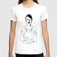 jewish T-shirts featuring Adolf Hitler Jewish Tattoo by Jacinta Stokes