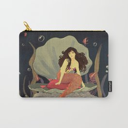 Brown Hair Mermaid Princess Carry-All Pouch