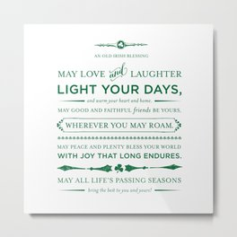 Irish Blessing Metal Print