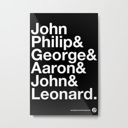 American Composers Metal Print