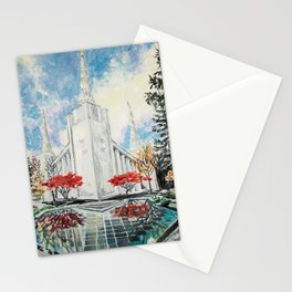 Portland Oregon LDS Temple Stationery Cards