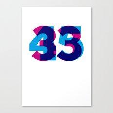 33/45 Canvas Print