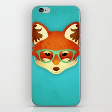 Hipster Fox: Azure iPhone & iPod Skin