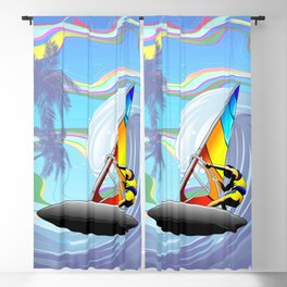 Windsurfer on Ocean Waves Blackout Curtain